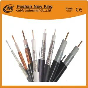 Ce/RoHS/CPR Certification Bare Copper Quad Shield PE Foam Bc Coaxial Cable China Manufaturer RG6