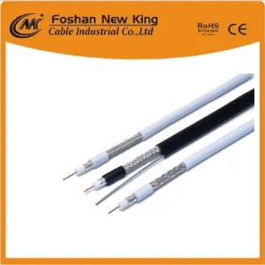 Free Samples RG6 CCS Coaxial Cable with Two 7*0.41 or 15*0.23mm CCA Power Cable