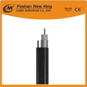 China Manufacturer RG6 Coaxial Cable with Messenger for Cat TV CCTV Surveillance
