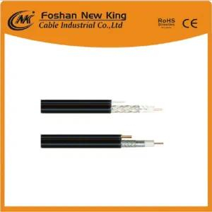 China Factory 75 Ohm Coaxial Cable Rg11 RG6 Rg59 with Messenger for Trunk Line