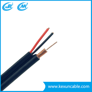 China Cable RG6 with 1.30mm Steel Messenger for CCTV/CATV/Antenna/Satellite