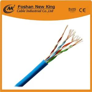 305m/Box CAT6 UTP FTP Network Cable LAN Cable 0.58mm Bc with Grey PVC Jacket Fluck Pass