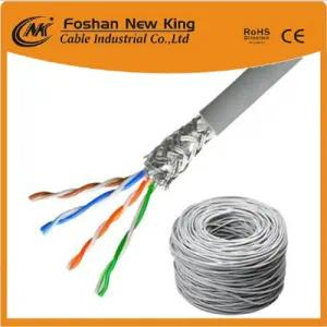 Professional Factory UTP LAN Cable 23AWG CAT6 Ethernet Network Cable Grey Color