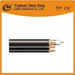 Free Samples RG6 CCS Coaxial Cable for Video/Satellite/VCR with Two 7*0.41 CCA Power Cable