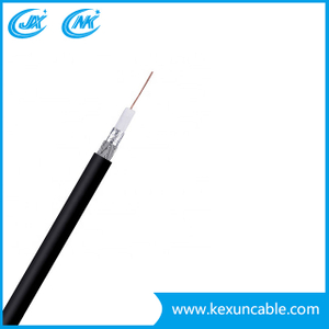 Low dB Loss Rg59 Coaxial Cable for CATV CCTV Surveillance System White Jacket