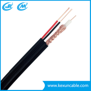 China Manufacutrer Rg59 Coaxial Cable for Security Camera Surveillance System with F Compression Connector
