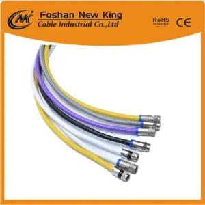 Security Monitoring Rg59 Surveillance Coaxial Cable with F-Connector