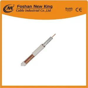 Superior Performance RG6 Coaxial Cable with F Connectors for Plated Digital Satellite TV VCR Communication